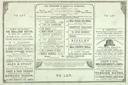Programme for the Canterbury Theatre of Varieties, Monday, 25 March 1889